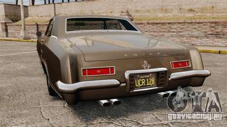 Buick Riviera 1963 для GTA 4 вид сзади слева