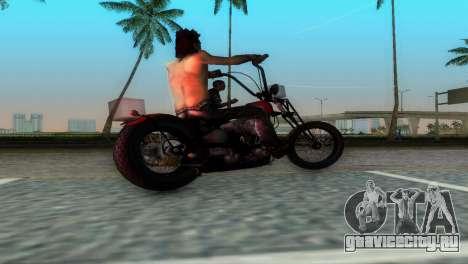 Harley Davidson Shovelhead для GTA Vice City вид справа