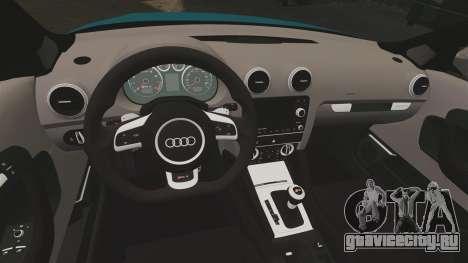 Audi RS3 Sportback [Typ 8PA] 2011 для GTA 4 вид изнутри