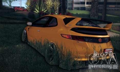 Honda Civic Type R Mugen для GTA San Andreas вид сзади