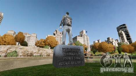 Статуя Клода Спида для GTA 4 второй скриншот