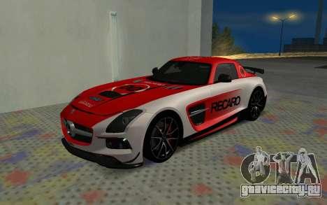Mercedes-Benz SLS AMG 2013 Black Series для GTA San Andreas вид изнутри
