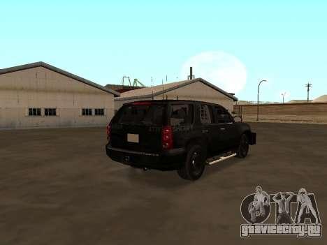 GMC Yukon ATTF для GTA San Andreas вид сзади слева