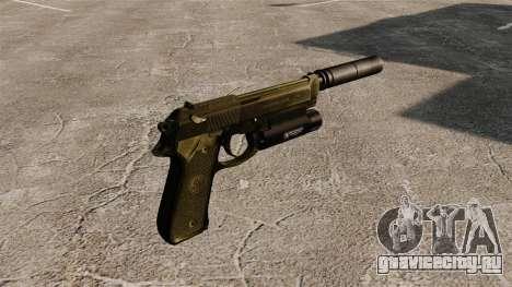 Самозарядный пистолет Beretta 92 с глушителем для GTA 4 второй скриншот