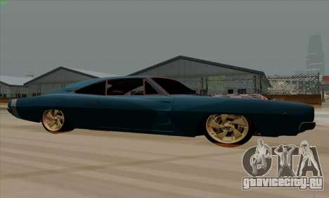 Dodge Charger 1969 Big Muscle для GTA San Andreas вид сзади слева