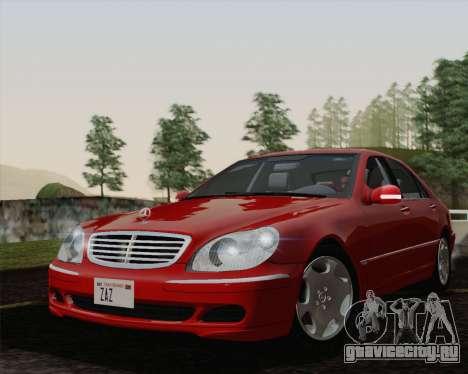 Mercedes-Benz S600 Biturbo 2003 для GTA San Andreas вид справа