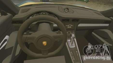 Porsche 911 Turbo 2014 [EPM] Alpinestars для GTA 4 вид изнутри