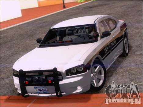 Dodge Charger San Andreas State Trooper для GTA San Andreas вид снизу