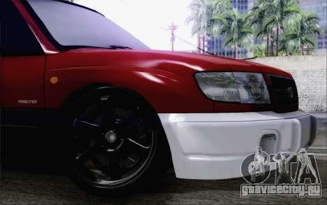 Subaru Forester Hellaflush для GTA San Andreas вид справа