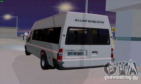 Ford Transit Jumgo для GTA San Andreas вид сзади слева