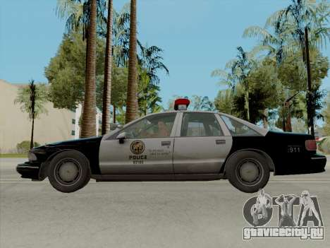 Chevrolet Caprice LAPD 1991 [V2] для GTA San Andreas вид слева