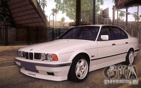 BMW E34 Alpina для GTA San Andreas вид сбоку