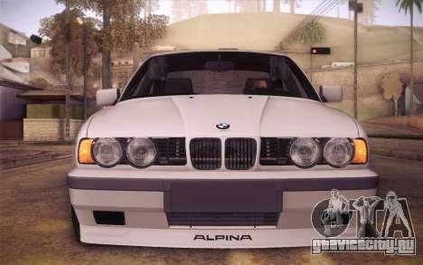 BMW E34 Alpina для GTA San Andreas вид справа
