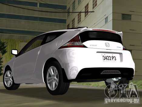 Honda CR-Z 2010 для GTA Vice City вид изнутри