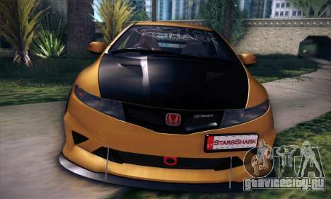 Honda Civic Type R Mugen для GTA San Andreas вид снизу