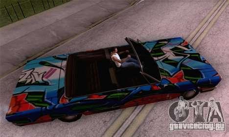 Покрасочная работа для Savanna для GTA San Andreas вид сзади слева