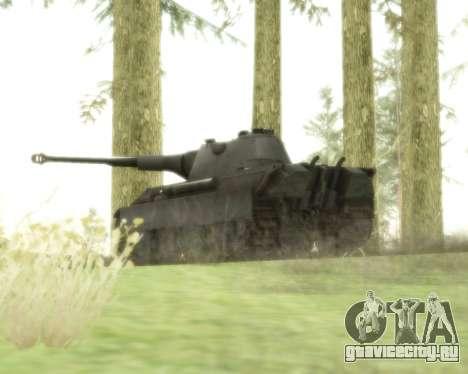 Pzkpfw V Panther II для GTA San Andreas вид сзади