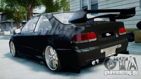 Honda Civic FnF для GTA 4 вид слева