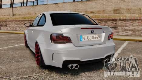 BMW 1 M 2011 для GTA 4 вид сзади слева