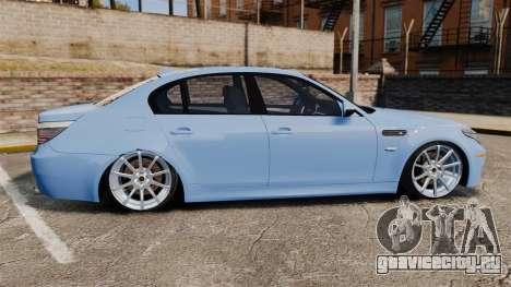 BMW M5 2009 для GTA 4 вид слева
