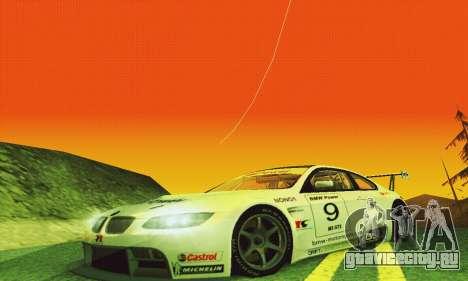 BMW M3 GT2 E92 ALMS для GTA San Andreas вид изнутри