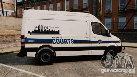 Mercedes-Benz Sprinter 2500 Prisoner Transport для GTA 4 вид слева
