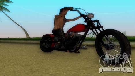 Harley Davidson Shovelhead для GTA Vice City вид изнутри