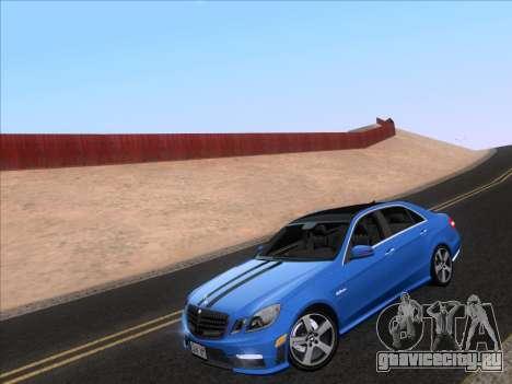 Mercedes-Benz E63 AMG 2011 Special Edition для GTA San Andreas вид сзади слева