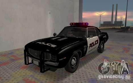Chevrolet Camaro SS Police для GTA San Andreas