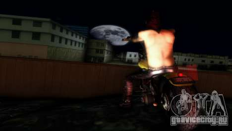 Harley Davidson Shovelhead для GTA Vice City вид слева