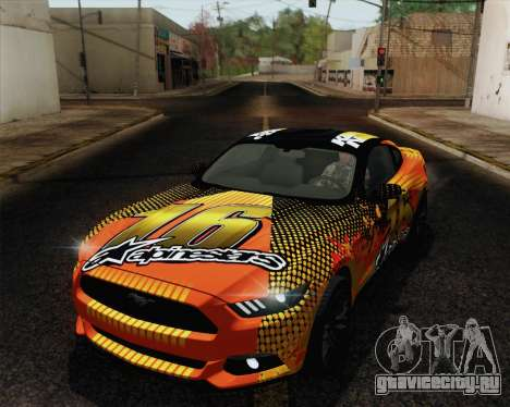 Ford Mustang GT 2015 для GTA San Andreas колёса