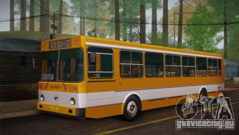 ЛиАЗ 5256.00 Скин-пак 1 для GTA San Andreas вид изнутри