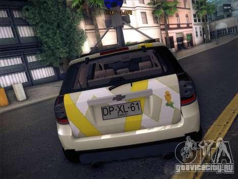 Chevrolet Google Street View Chile для GTA San Andreas вид сзади