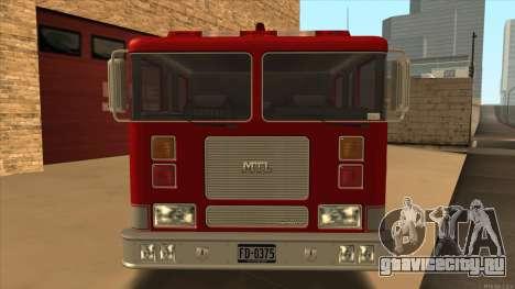 Firetruck HD from GTA 3 для GTA San Andreas вид сзади слева