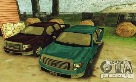 Ford F150 XLT Supercrew Trim для GTA San Andreas вид слева