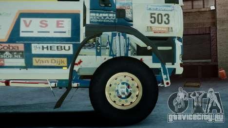MAN TGA GINAF Dakar Race Truck для GTA 4 вид сзади слева