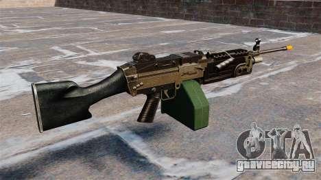 Ручной пулемёт M249 Airsoft для GTA 4 второй скриншот