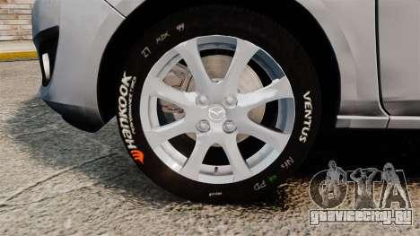 Mazda 2 для GTA 4 вид сзади