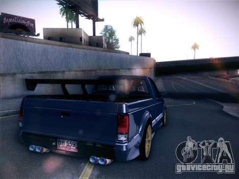 Mitsubishi Cyclone для GTA San Andreas вид сзади слева