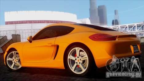 Porsche Cayman S 2014 для GTA San Andreas вид слева