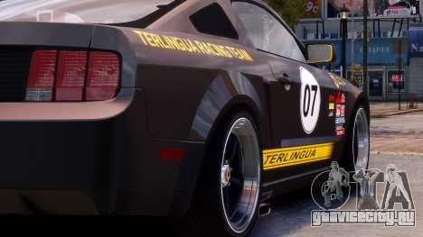 Shelby Terlingua Mustang для GTA 4 вид сзади