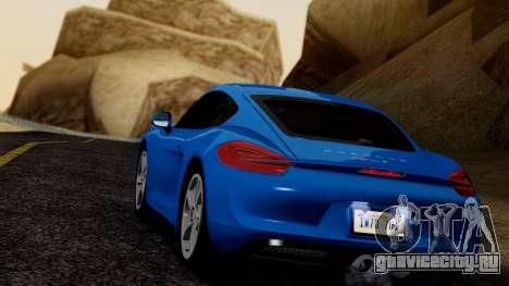 Porsche Cayman S 2014 для GTA San Andreas вид справа