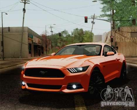 Ford Mustang GT 2015 для GTA San Andreas салон