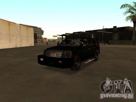 GMC Yukon ATTF для GTA San Andreas вид изнутри