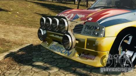 MG Metro 6r4 для GTA 4 вид сзади слева