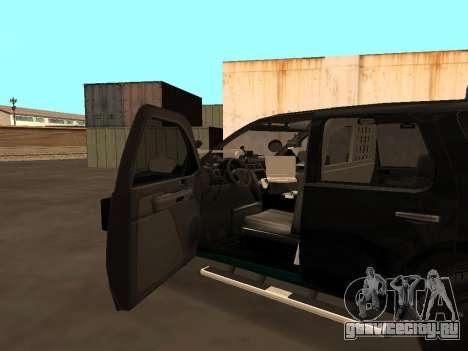 GMC Yukon ATTF для GTA San Andreas вид сверху