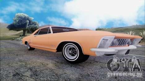 Buick Riviera 1963 для GTA San Andreas вид сзади