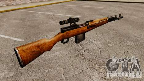 Самозарядная винтовка Токарева 1940г для GTA 4 второй скриншот