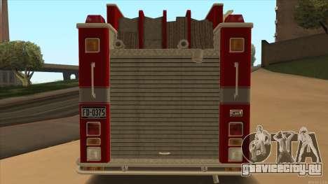 Firetruck HD from GTA 3 для GTA San Andreas вид справа