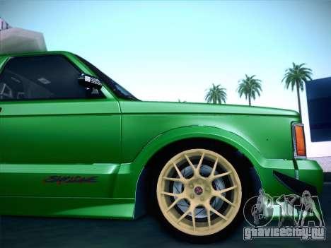 Mitsubishi Cyclone для GTA San Andreas вид снизу